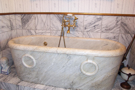 This Bathroom Is Referred To As The Napoleon Bathroom Because Of The Very  Unique, Carved, Solid Marble Tub That Was Found On The Property.